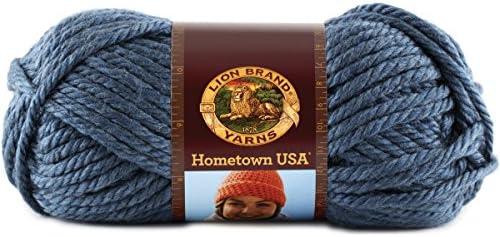 Peacock Yarn Percent Acrylic Lion Brand Yarn 135-175 Hometown Usa Yarn