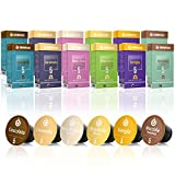 120 Nespresso Compatible Coffee Capsules, 100% Fair Trade | Gourmesso Flavour Bundle | Includes Vanilla Almond Caramel Chocolate Hazelnut Coconut Flavoured Espresso Capsule Variety Pack