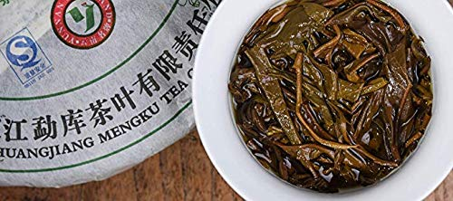 Rong's 2009 [Early Spring Yulu] Pu'er raw tea,Qizibing Tea [Rong's 10-year Thanksgiving Return] High fragrance,The palate is rich and full,Air foot rhyme length,98.7 ounces,Send mahogany tea needles by Rong's (Image #6)