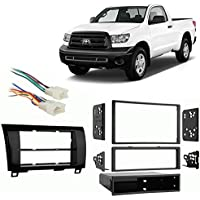 Fits Toyota Tundra 2007-2013 SDIN/DDIN Harness Radio Dash Kit - High Gloss