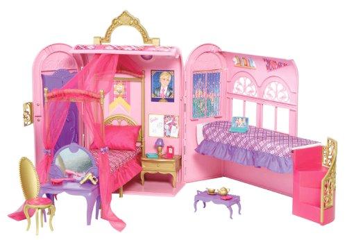 mattel v6823 - barbie principessa, camera da letto e bagno: amazon ... - Camera Da Letto Di Barbie