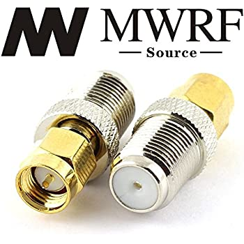 MWRF Source 2PCs coaxial coax adapter SMA Male to F female