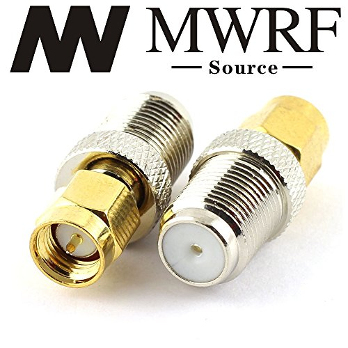 MWRF Source 2PCs coaxial coax adapter SMA Male to F ()