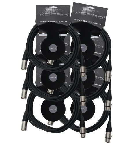 XSPRO XSPDMX3P15 3 Pin DMX Light Cable 15' - 6PAK