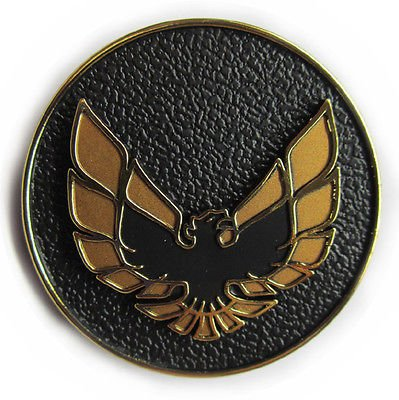 The Parts Place Firebird Door Panel Emblem - Gold Bird