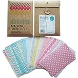 Wrapables Decorative Patterns Masking Sticker Set - Pastel