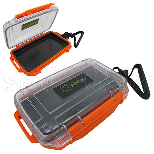 Scuba Choice Scuba Diving Dive Waterproof Orange Dry Box Case Container with Lanyard