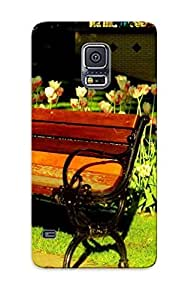 Tpu Illumineizl Shockproof Scratcheproof Tulips Behind The Bench Hard Case Cover For Galaxy S5 For Lovers