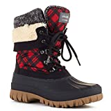 Cougar Women's Creek Lace Up Waterproof Winter Boot Red Plaid 10 M US