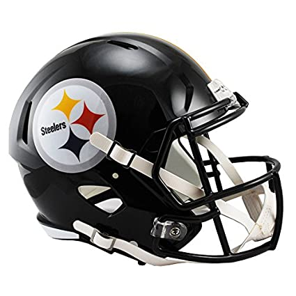 07d8de3e301 Amazon.com   Riddell Pittsburgh Steelers Officially Licensed Speed Full  Size Replica Football Helmet   Sports   Outdoors
