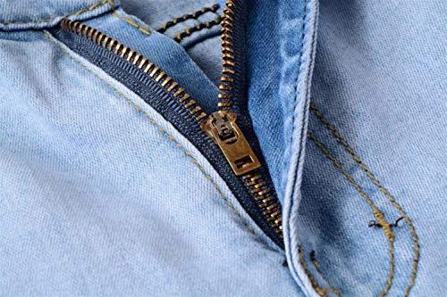 Taglie Denim Da Destroyed Abiti Fit Chern Comode Pantaloni Di Slim Uomo Holes Skinny Blau Strech Jeans AaOpqwHYq