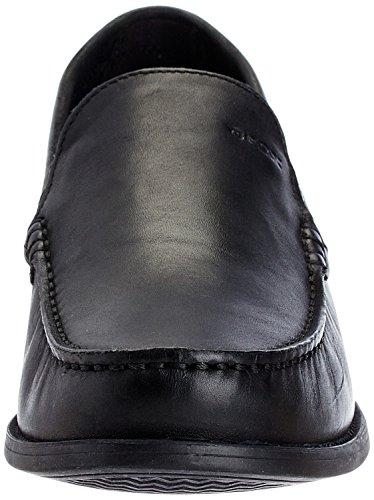 Geox U DAMON A U24W6A00043C9999 - Zapatos de cuero para hombre Negro