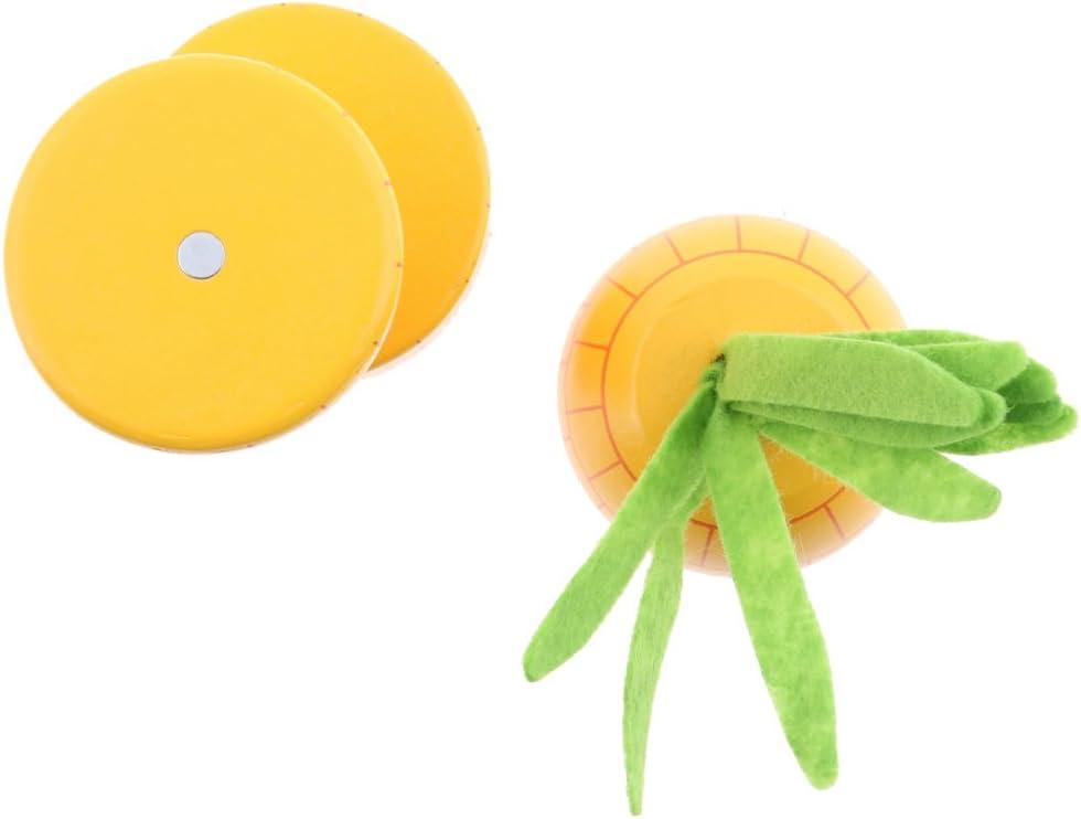Ananas D DOLITY Kinderk/üche Holz Lebensmittel Magnetische K/üchenspielzeug f/ür Kinder Rollenspiel