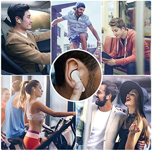 Bluetooth Earbuds, Bluetooth 5.0 Headphones, with Charging Case Touch Control Built-in Mic TWS Stereo 35H Cycle Playtime IPX7 Waterproof Suitable for iPhone/Android/Airpods … (White)