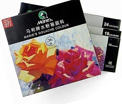 FidgetKute Colors Gouache Paints Set Finest Pigment Professional Paints for Artist Painting