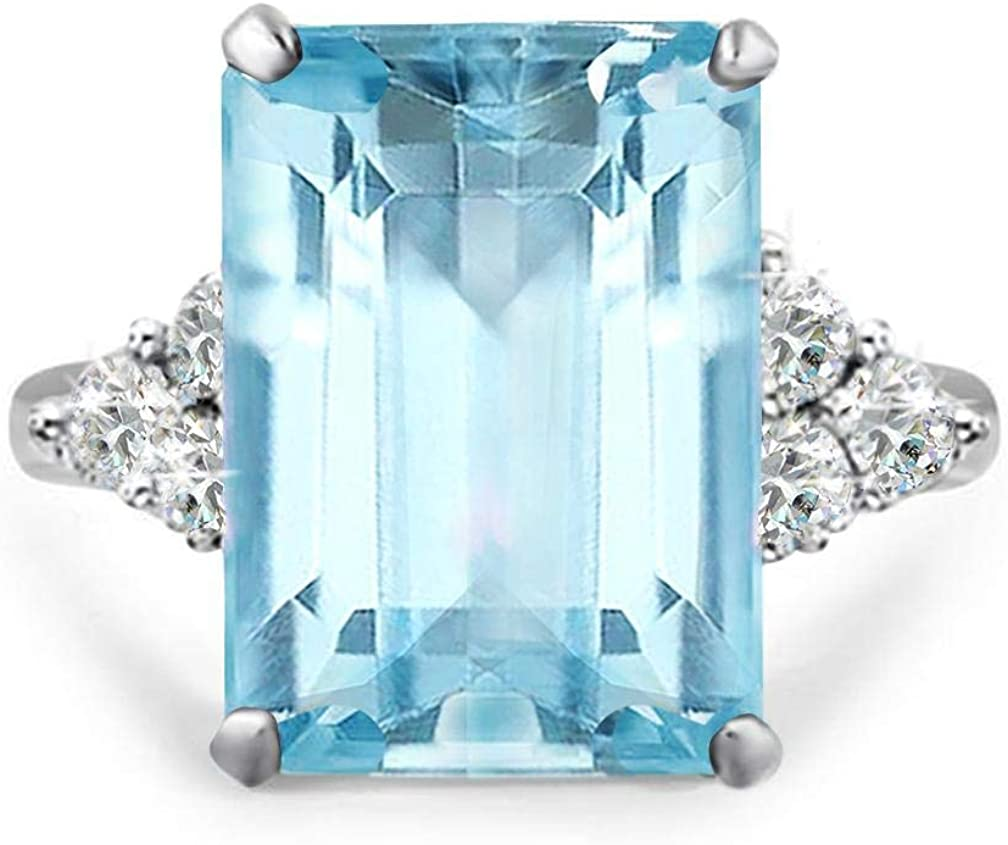 amazon com samie collection princess diana 20ctw emerald cut simulated gemstone in aquamarine tone emerald tone garnet tone cocktail ring for women inspired by royal wedding in white gold plating size 5 10 jewelry samie collection princess diana 20ctw emerald cut simulated gemstone in aquamarine tone emerald tone garnet tone cocktail ring for women inspired by
