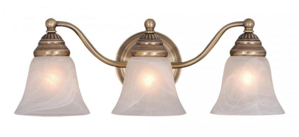 Vaxcel VL35123A Standford 3 Light Vanity Light, Antique Brass Finish -  Vanity Lighting Fixtures - Amazon.com - Vaxcel VL35123A Standford 3 Light Vanity Light, Antique Brass