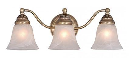 Vaxcel VL35123A Standford 3 Light Vanity Light, Antique Brass Finish - Vaxcel VL35123A Standford 3 Light Vanity Light, Antique Brass Finish