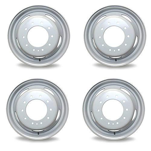 4 세트 새로운 19.5 19.5X6 10 러그 스틸 휠 포드 F450SD F550SD2005-2020 슈퍼 듀티 DUALLY 회색 OEM 품질 교체 림