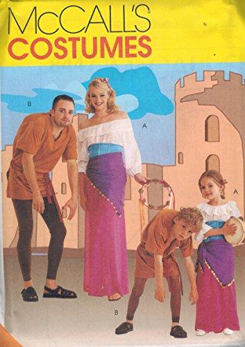 8447 Uncut McCalls Sewing Pattern Hunchback Gypsy Costume Halloween Child 3-4 -