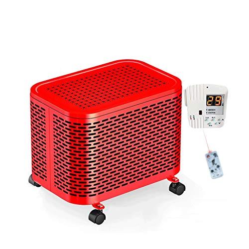 ZFF Calentador Remoto Carbón Acero Eléctrico Radiador Casa Energía Ahorro Rodapié De Aceite Mini Pequeña (Color : Red)