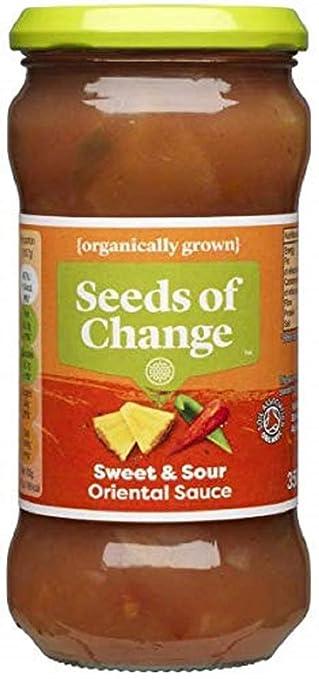 Seeds of Change Salsa Agridulce Orgánica (350g) (Paquete de 6): Amazon.es: Alimentación y bebidas