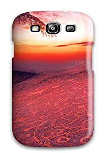 Durable Defender Case For Galaxy S3 Tpu Cover(gorgeous Sunset Digital)