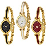 Krupa Enterprise Analogue Multicolor Dial Combo of 3 Women's & Girl's Watch (k 10)