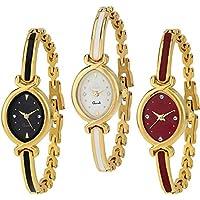 Krupa Enterprise Analogue Multicolor Dial Combo of 3 Women's & Girl's Watch (k 10)