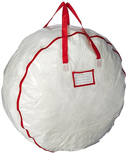 Elf Stor Deluxe White Holiday Christmas Wreath Storage Bag For 30