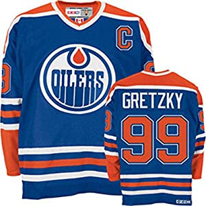Wayne Gretzky #99 Edmonton Oilers CCM Heroes of Hockey Authentic Blue Jersey