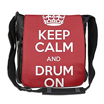 787c568b7232 good Keep Calm And Drum On Fashion Print Diagonal Single Shoulder ...