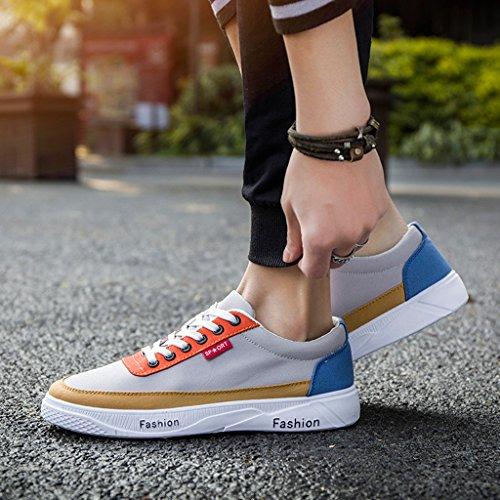 Size coreano scarpe scarpe Scarpe basse Colour2 43 scarpe Color scarpe di vita in tela YaNanHome Colour3 di tela stoffa unisex di casual Hz4ndx