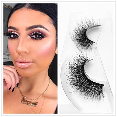 Mink 3D Lashes Dramatic Makeup High Quality Strip Eyelashes 100% Siberian Fur Fake Eyelashes Hand-made False Eyelashes 1 Pair Package Miss Kiss (3D04) Lash False Eyelashes