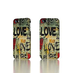 Apple iPhone 4 / 4S Case - The Best 3D Full Wrap iPhone Case - Love Background