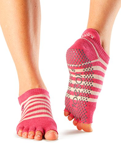 ToeSox Women's Low Rise Half Toe Grip Socks Small