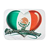 Royal Lion Baby Blanket White Mexican Sweetheart Mexico Flag