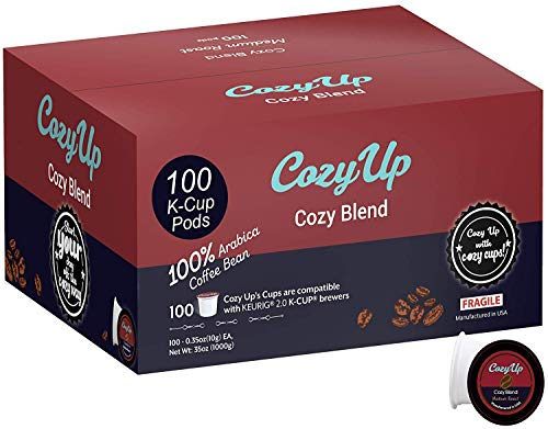 CozyUp 100-Count Signature Blend Coffee K Cups for Keurig K-Cup, Medium Roast by Cozy Up