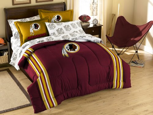 The Northwest Company NFL Washington Redskins Full Bed in a Bag with Applique (Washington Redskins Bed Set)