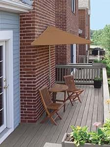 5-Piece Terrace Mates Premium Bistro Outdoor Patio Set 9' - Teak Sunbrella
