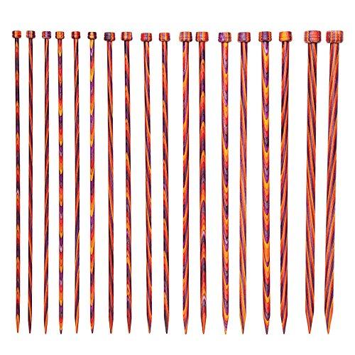 Knit Picks Wood Straight Single Point Knitting Needle Set US 4-11 (10