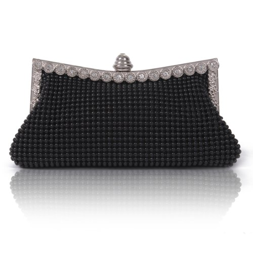 Damara Bag Dimple Mini Black Clutch Crystals Evening Mesh Womens wqTrw