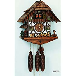 Anton Schneider German Cuckoo Clock 8-Day-Movement Chalet-Style 16.00 inch - Authentic Black Forest Cuckoo Clock