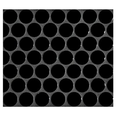 Penny Round Tile Black Porcelain Mosaic Shiny Look