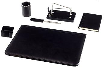 Maruse parure de bureau en cuir pièces noir amazon cuisine