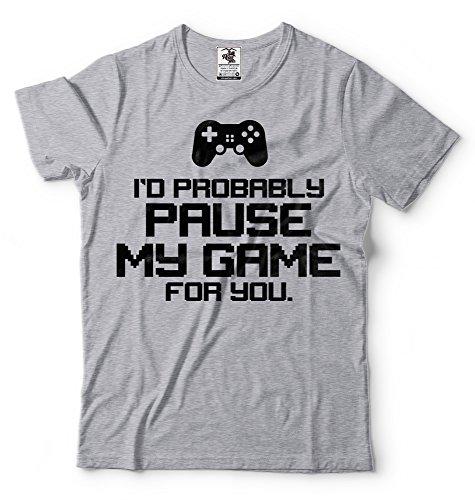 Silk Road Tees Gamer T-Shirt Console Gaming Video Gaming t-Shirt Video Gamer Funny Mens Birthday Gift T-Shirt Medium Gray