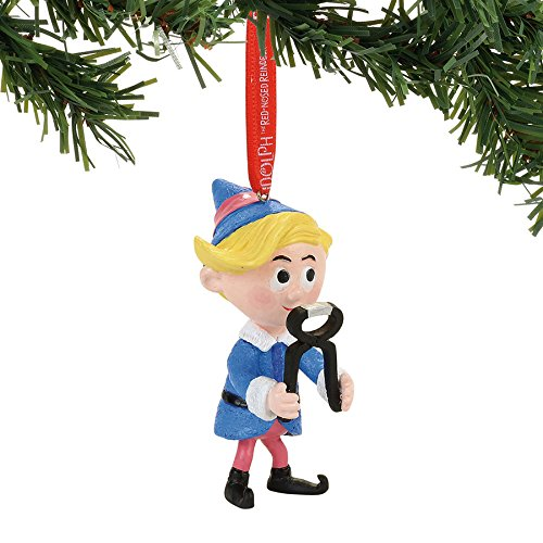 Department 56 Rudolph the Red-Nosed Reindeer Hermey with Pliers Hanging Ornament (Rudolph The Red Nosed Reindeer Elf Name)