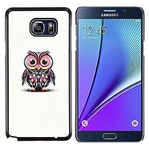 Stuss Case / Funda Carcasa protectora - Blanco lindo del rosa del trullo minimalista elegante enseñe - Samsung Galaxy Note 5