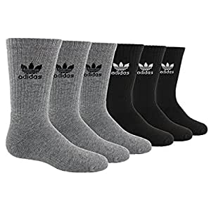 ffd8aaed7920 Amazon.com  adidas Originals Kid s - Boys Girls Trefoil Crew Socks ...