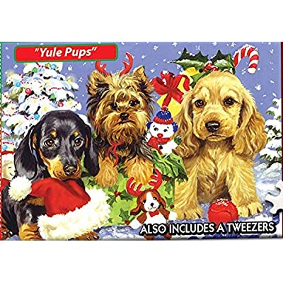 "Jigsaw Puzzle 234 Pieces 4""X6""-World's Smallest-Yule Pups: Arts, Crafts & Sewing"